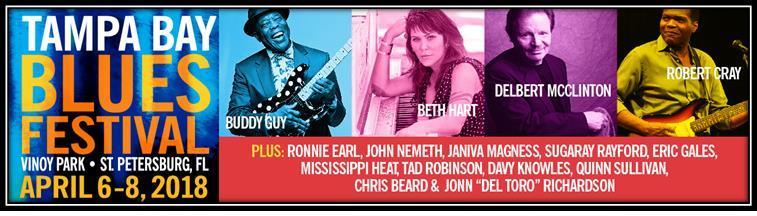 Tampa Bay Blues Festival 2018: ROBERT CRAY, BETH HART ...